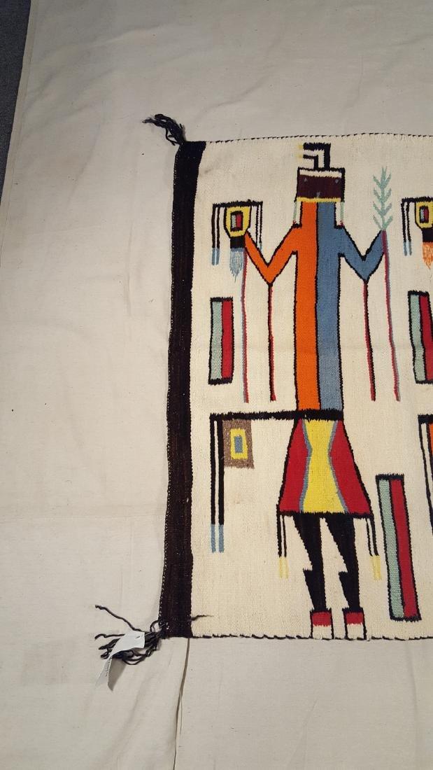 Vintage Rare Large Navajo Yei Rug Circa 1940 - 3