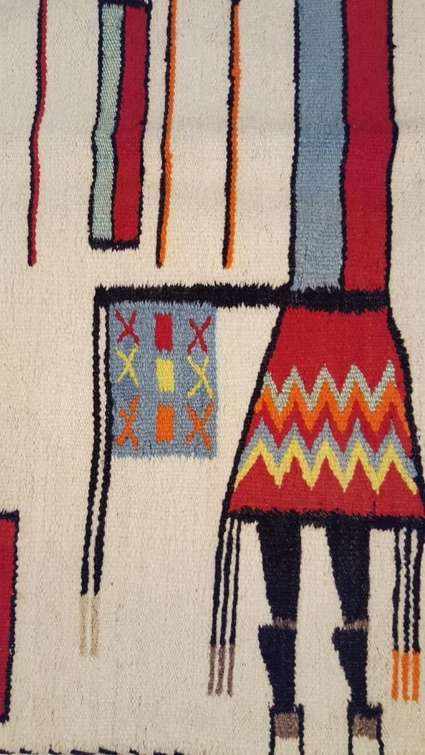 Vintage Rare Large Navajo Yei Rug Circa 1940 - 4