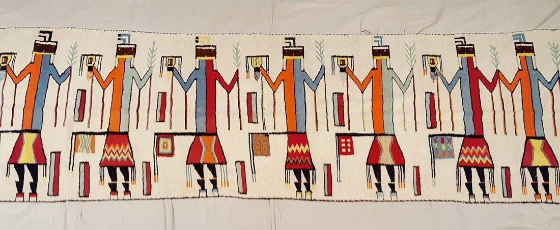 Vintage Rare Large Navajo Yei Rug Circa 1940 - 6