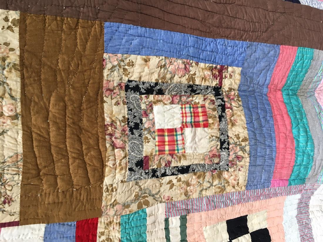 African American Quilt 1940's Mississippi - 7
