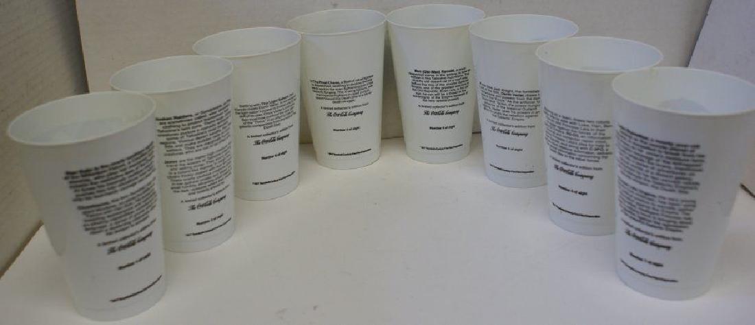 COMPLETE Set of 8 1977 Vintage STAR WARS Coca Cola Cups - 3