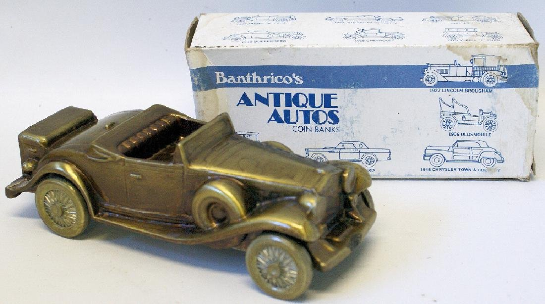Vintage 1974 BANTHRICO Metal Bank CADILLAC ROADSTER