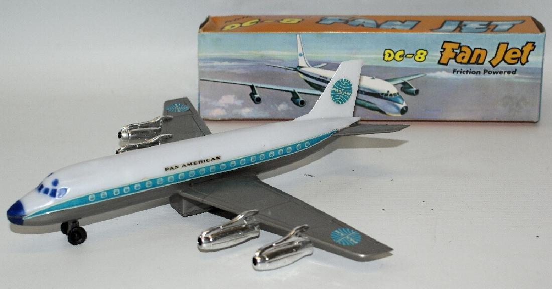 Vintage Friction Pan American DC-8 FAN JET Airplane