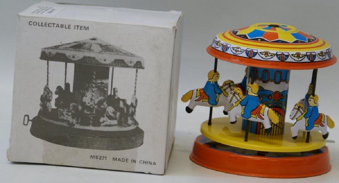 Tin Litho Windup CAROUSEL Merry Go Round Toy