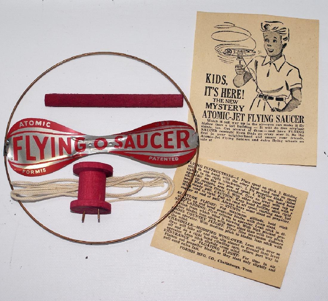 Vintage 1950's ATOMIC JET FLYING SAUCER Helicopter Toy