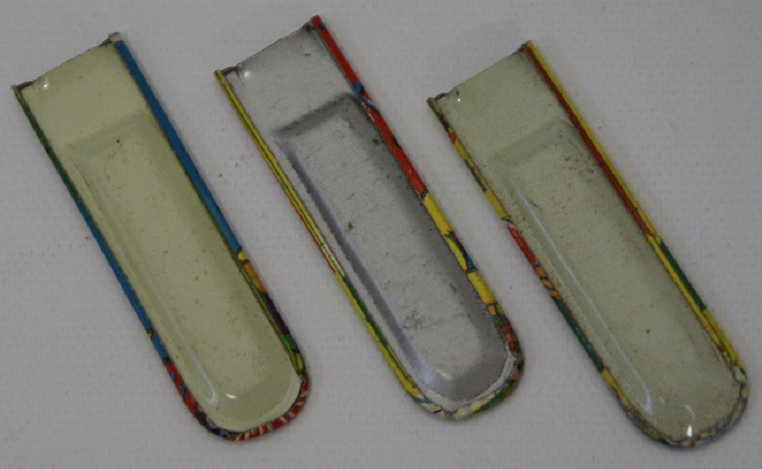 Set of 3 Tin Character Miniature Whistles, Japan - 2