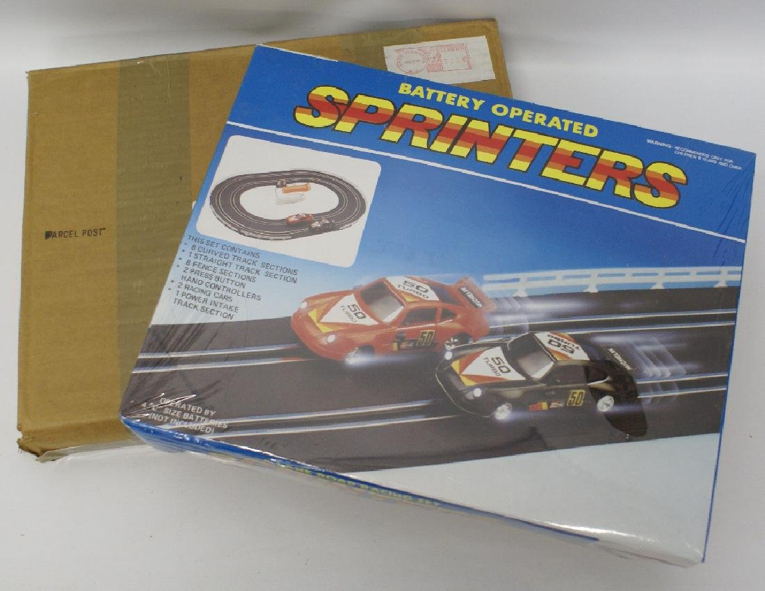 Vintage Promotional SPRINTERS Slot Car Set, Sealed!
