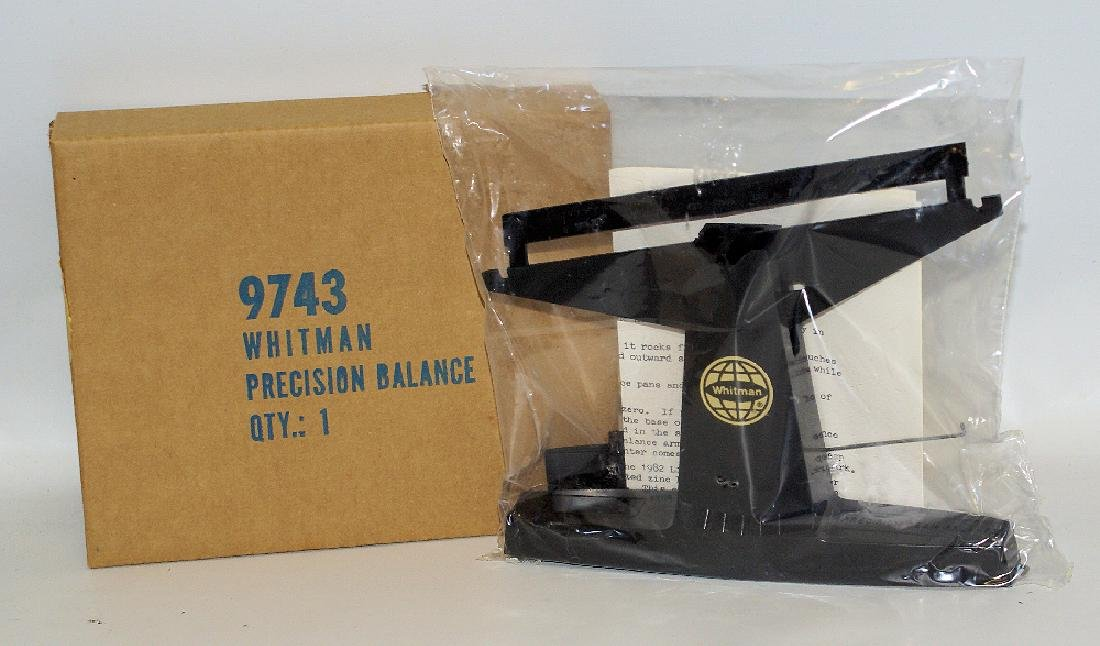 Vintage WHITMAN Coin Beam Balance Scale No. 9741 Sealed