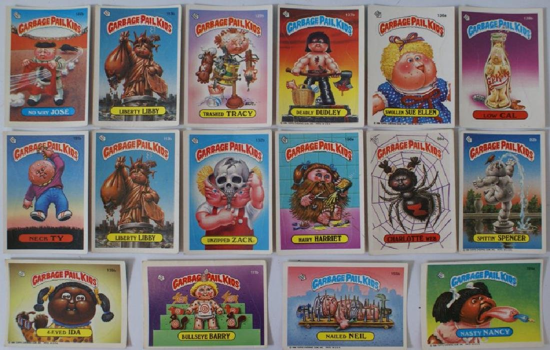 Vintage 1986 Topps GARBAGE PAIL Card Lot of 16 Cards