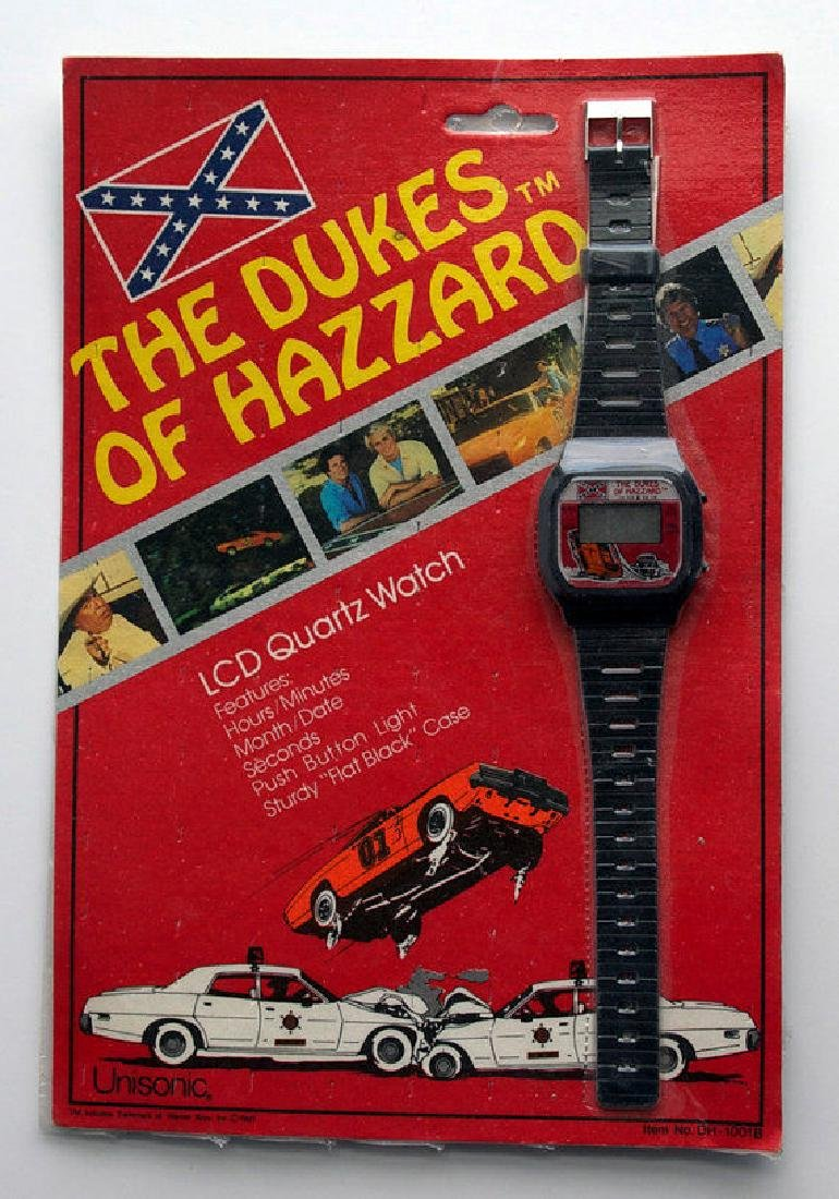 VINTAGE 1981 THE DUKES OF HAZZARD LCD Quartz Watch