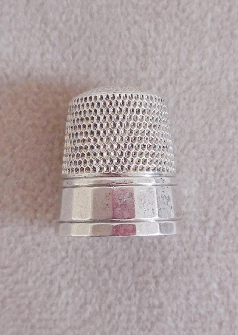 Antique American Sterling Silver Thimble - 2
