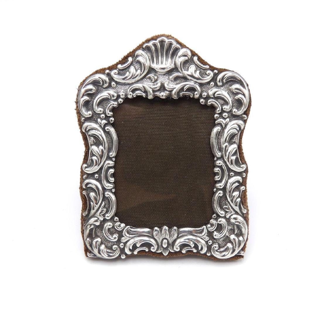 Vintage Italian Sterling Silver Repousse Picture Frame