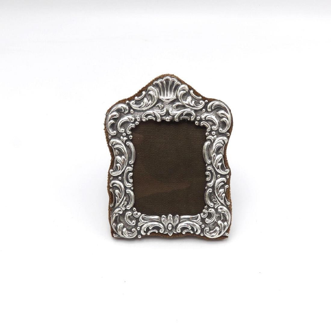 Vintage Italian Sterling Silver Repousse Picture Frame - 2
