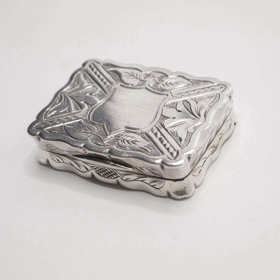 Antique Victorian Sterling Silver Vinaigrette, 1875