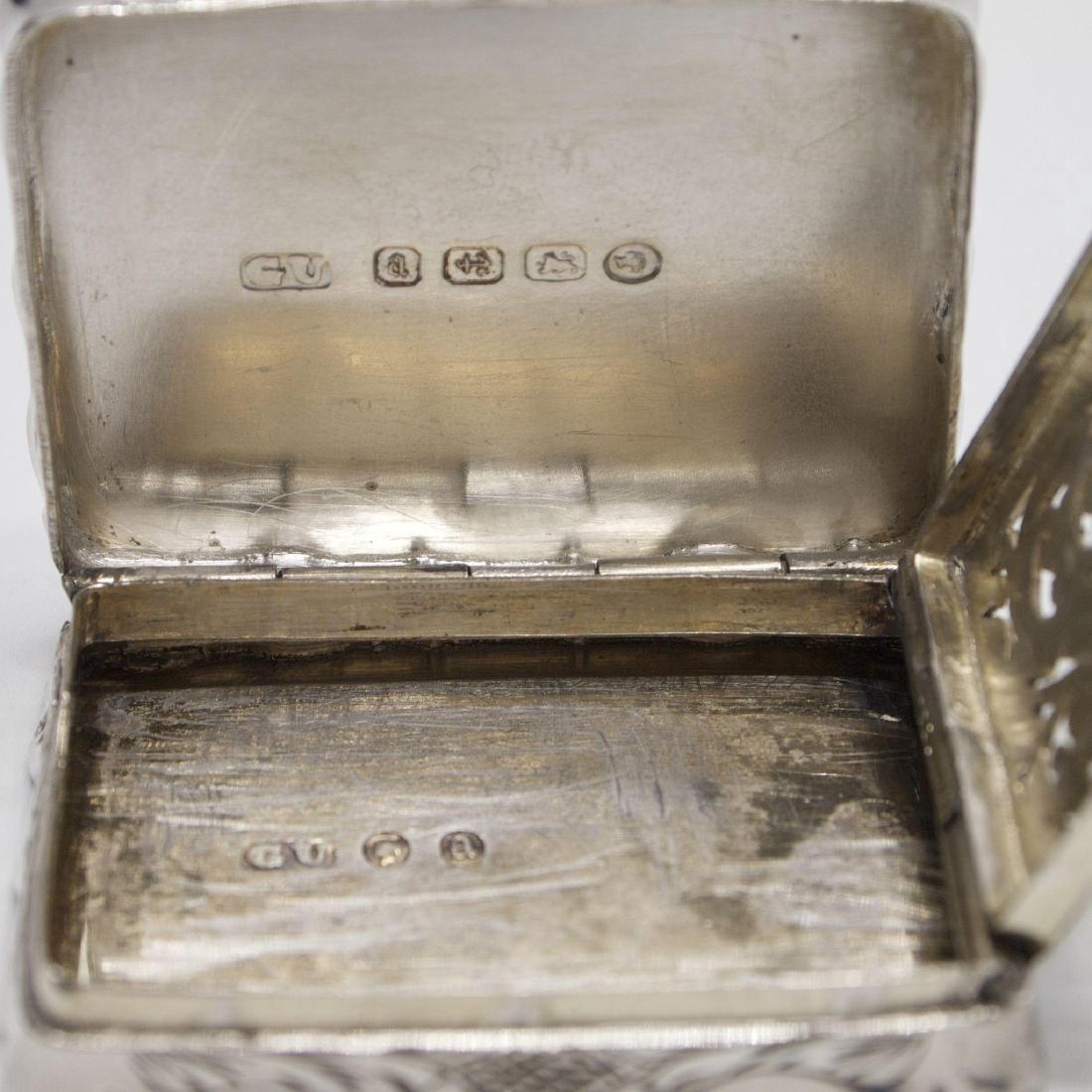 Antique Victorian Sterling Silver Vinaigrette, 1875 - 3
