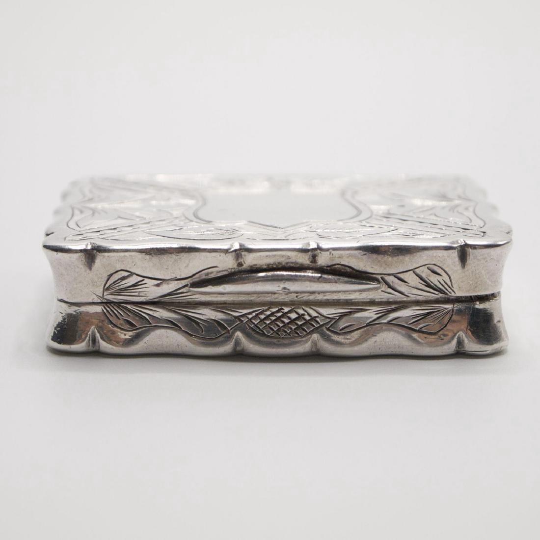 Antique Victorian Sterling Silver Vinaigrette, 1875 - 4