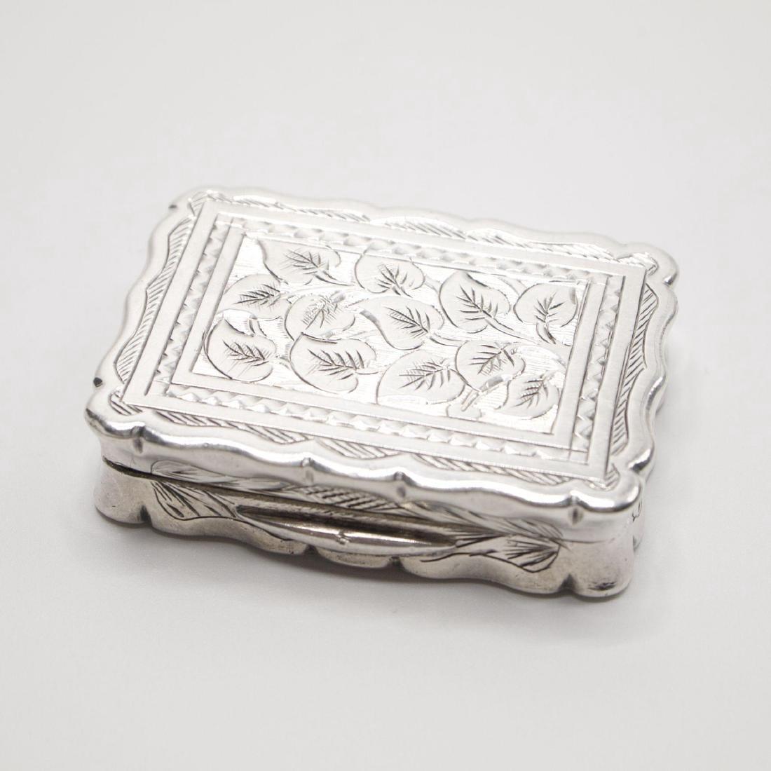 Antique Victorian Sterling Silver Vinaigrette, 1875 - 5