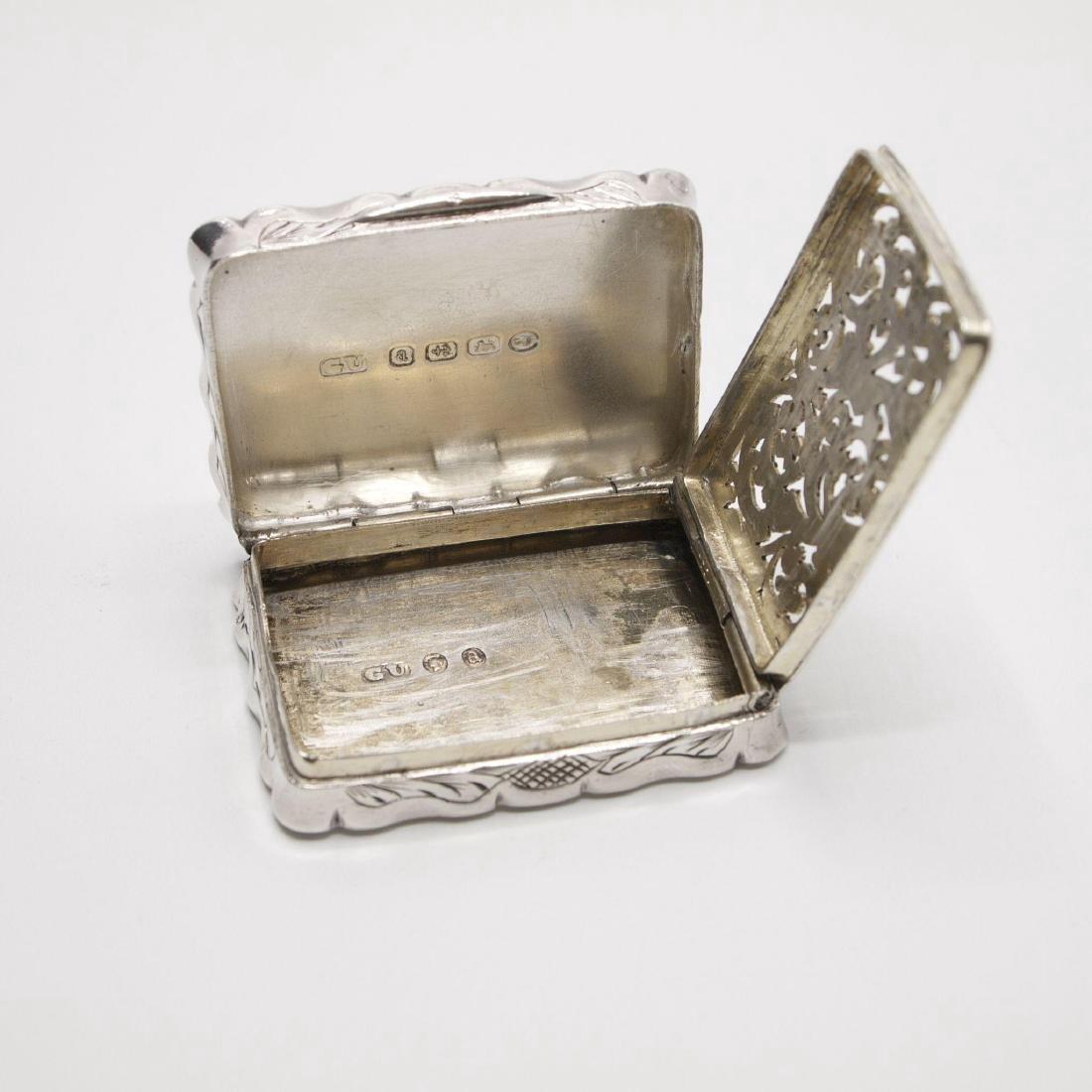 Antique Victorian Sterling Silver Vinaigrette, 1875 - 6