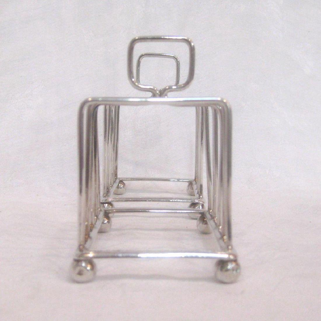 Antique Pair of English Sterling Silver Toast Racks - 3