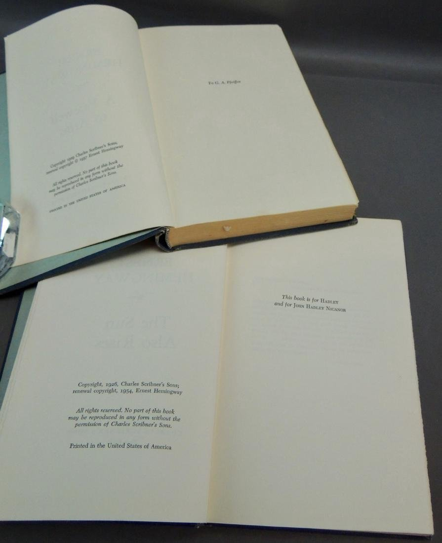 Pair of Ernest Hemingway Books, 1929, 1957 - 6