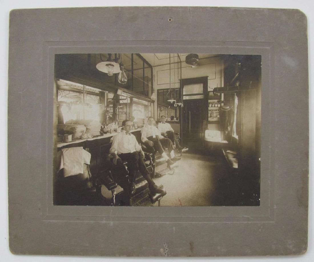 1900 Barber Shop Interior O'hearns Haircuts Kansas - 3
