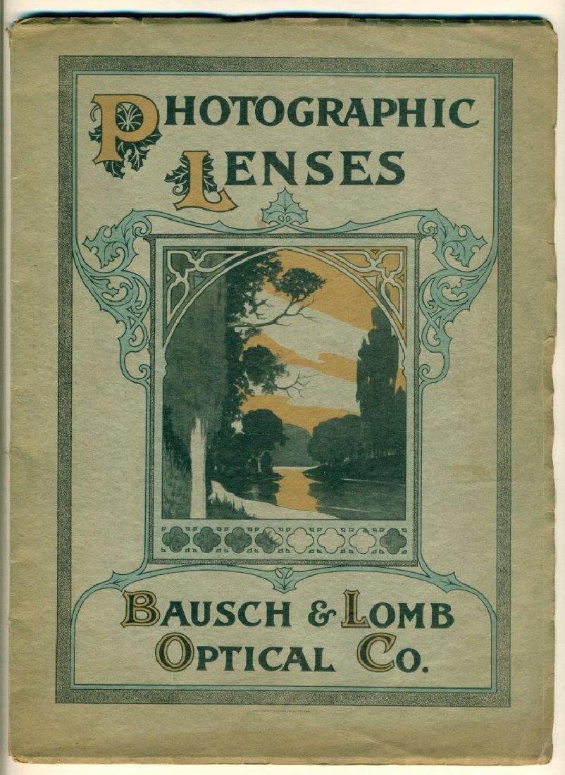 1910 Bausch & Lomb Optical Photographic Camera Catalog