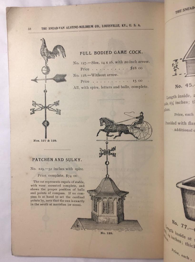 Antique 1895 Louisville Ornamental Weathervanes Catalog - 9