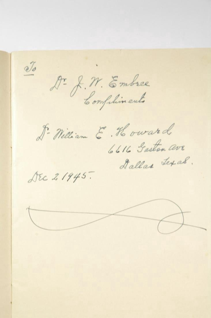 Calendar of the Howard Collection of Texana Signed
