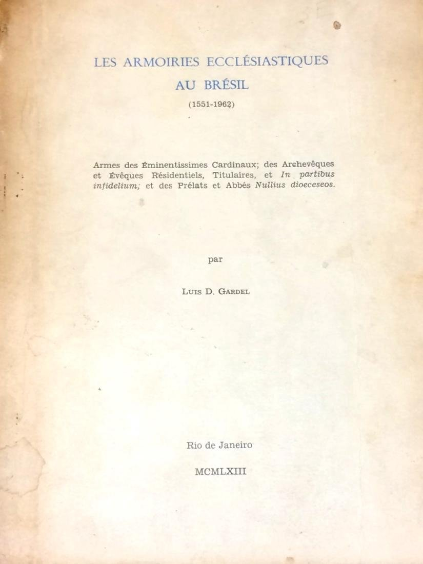 Armoiries Ecclesiastiques Bresil Signed First Edition - 2