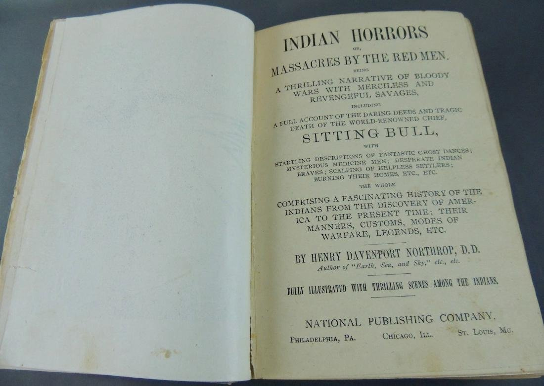 Indian Horrors or Massacres by the Red Men, 1900 - 4