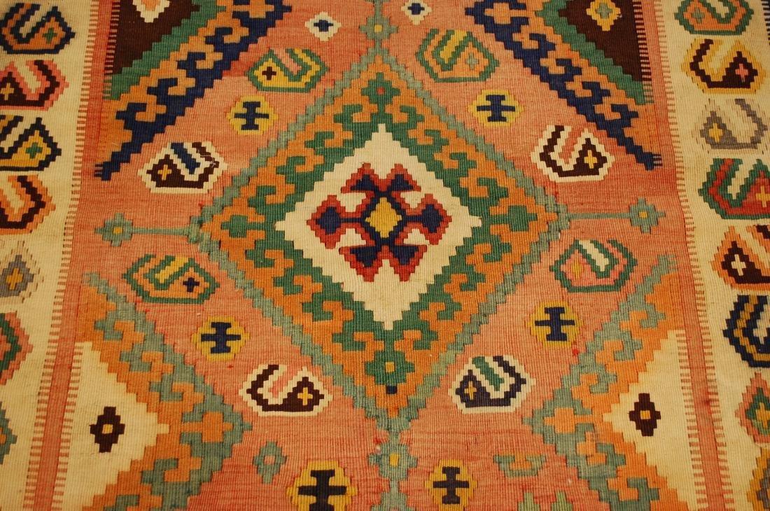 Rare Size Caucasian Kilim Rug 4.7x9.3 - 7