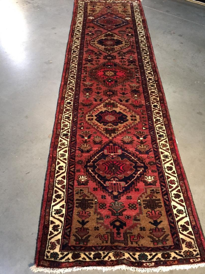 Hand Knotted Wool Persian Runner 3x10