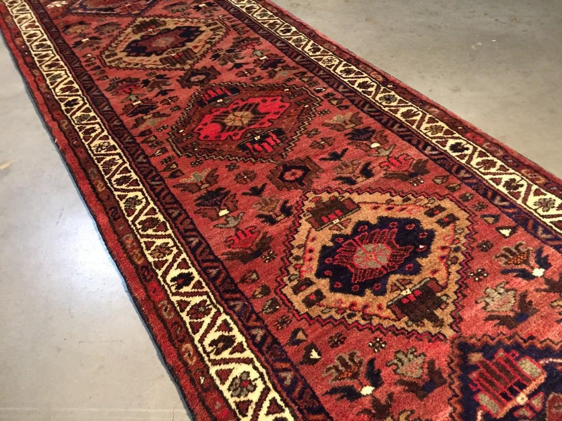 Hand Knotted Wool Persian Runner 3x10 - 2
