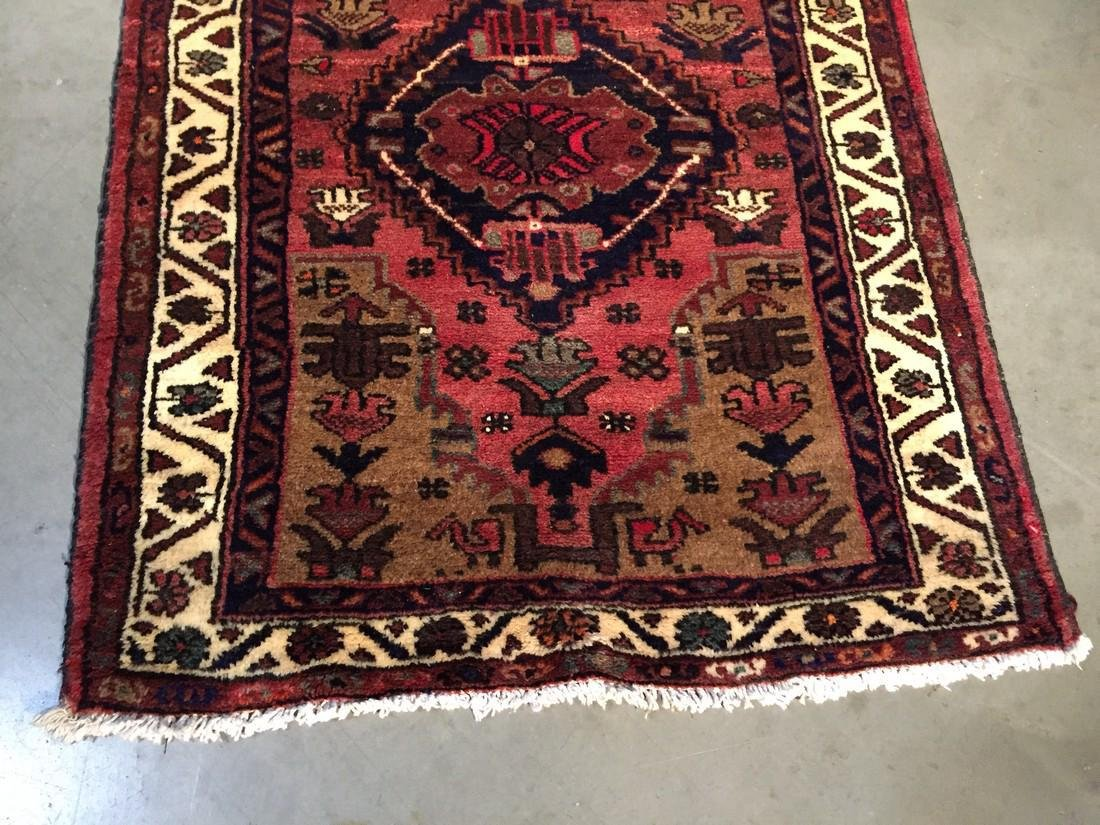 Hand Knotted Wool Persian Runner 3x10 - 3