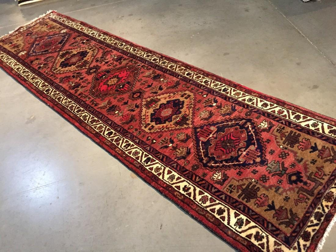 Hand Knotted Wool Persian Runner 3x10 - 4