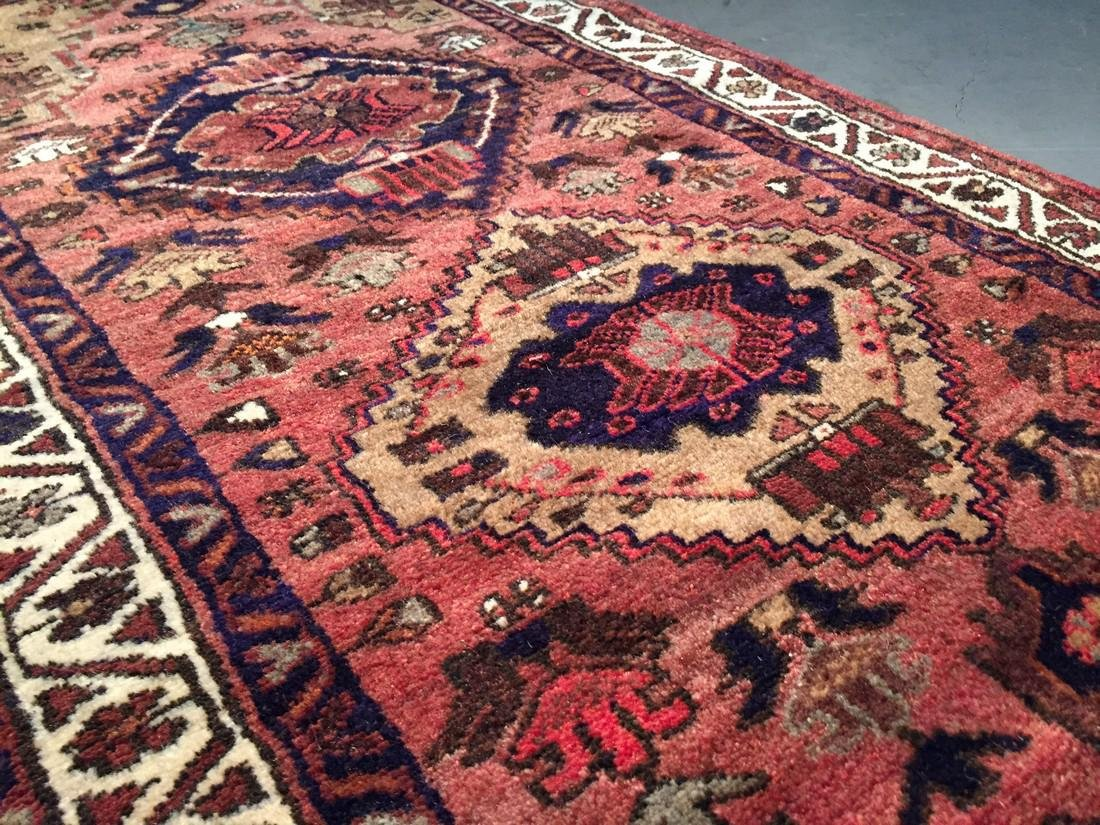 Hand Knotted Wool Persian Runner 3x10 - 7