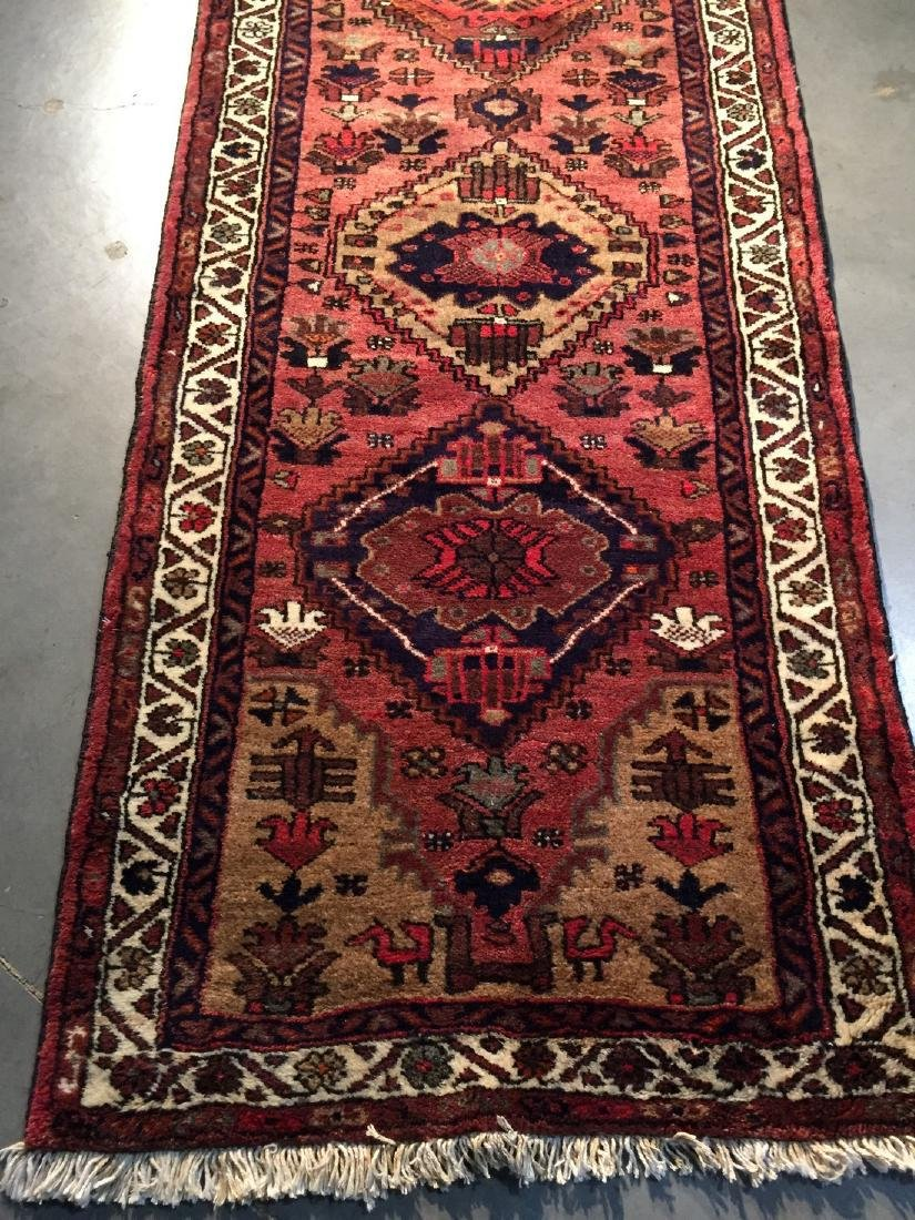 Hand Knotted Wool Persian Runner 3x10 - 8