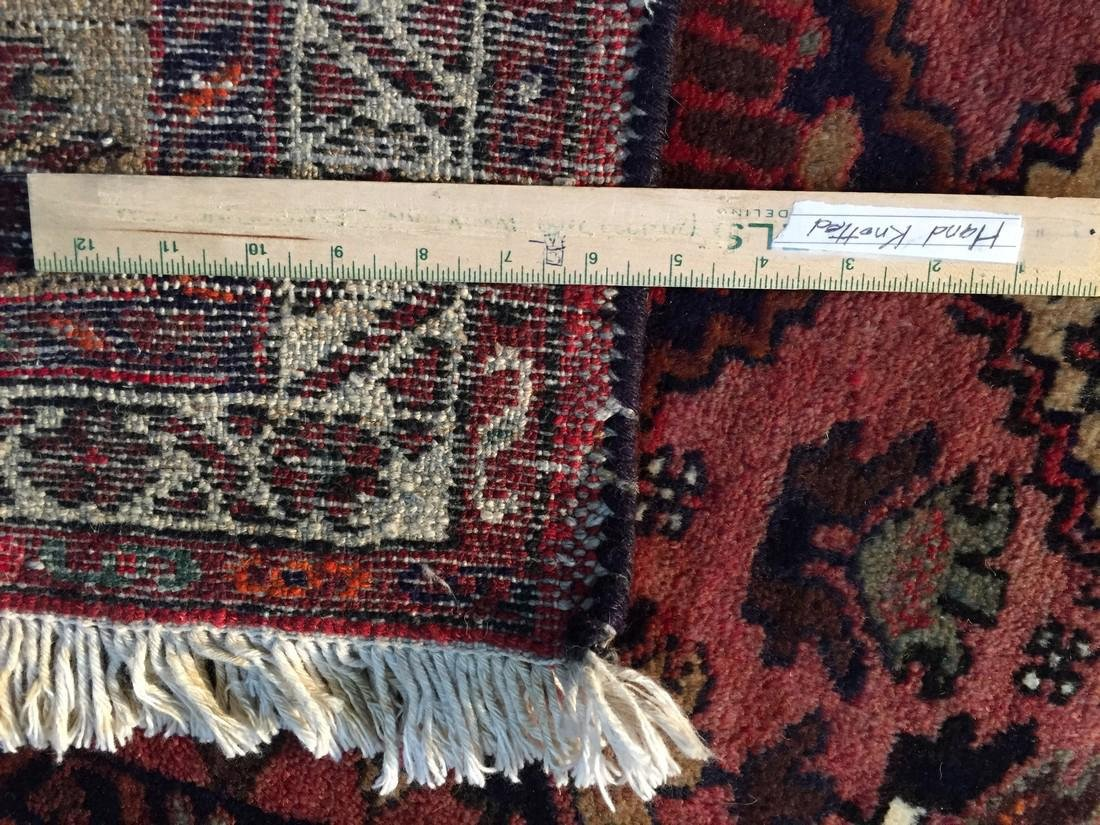 Hand Knotted Wool Persian Runner 3x10 - 9
