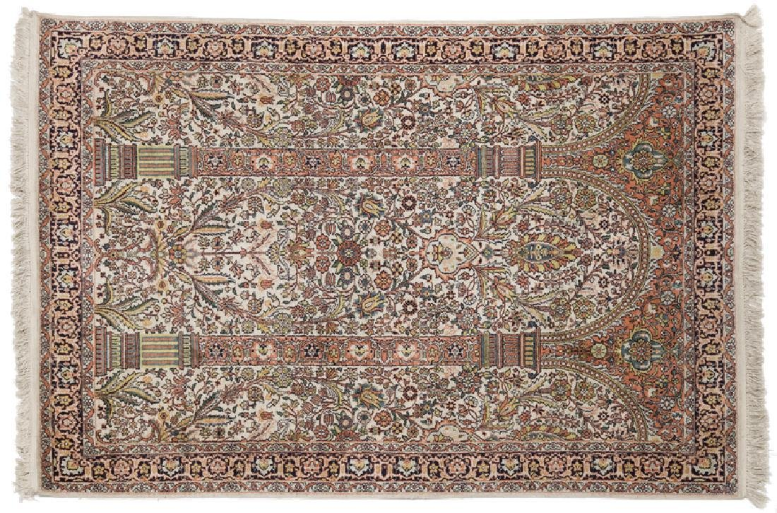 Persian Coupled-Column Prayer Rug 6.1x4.1