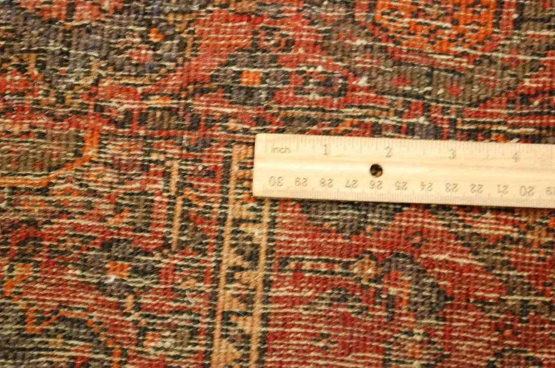 Vintage Animal Subjects Persian Bijar Rug 4.7x6.8 - 8