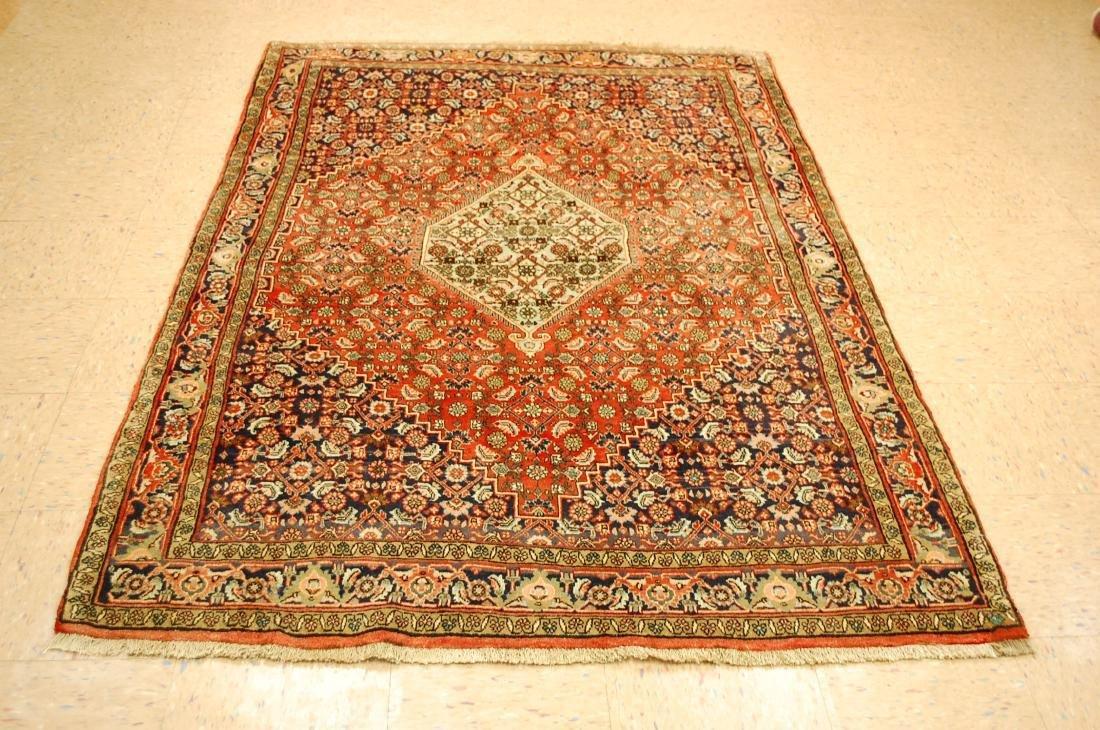 Persian Bijar Village Woven Kork Wool Rug 4.9x7.2