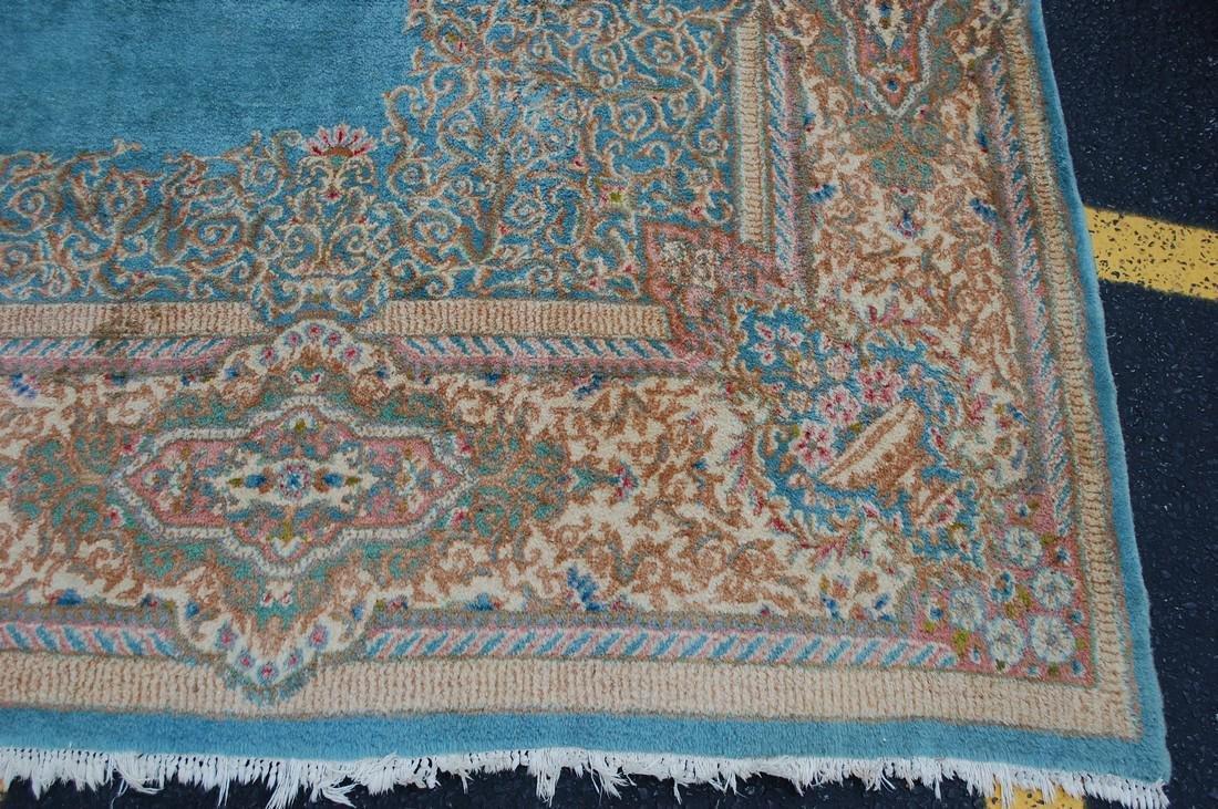 Antique Kork Wool Persian Lavar Kerman Rug 9.10x18 - 2