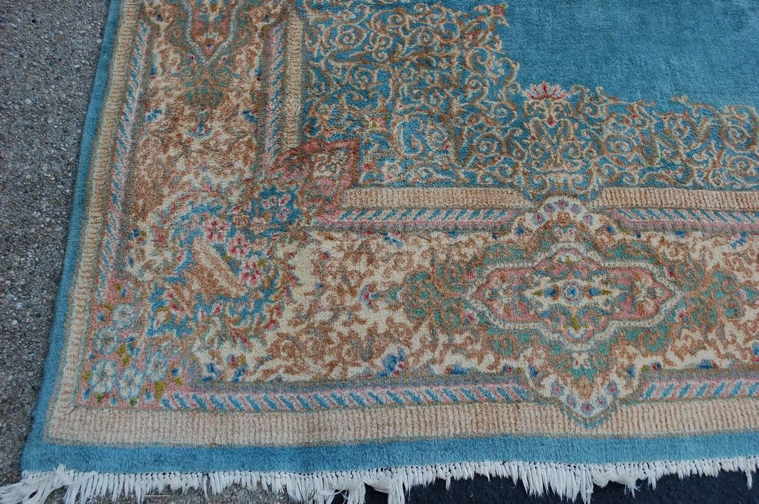 Antique Kork Wool Persian Lavar Kerman Rug 9.10x18 - 3