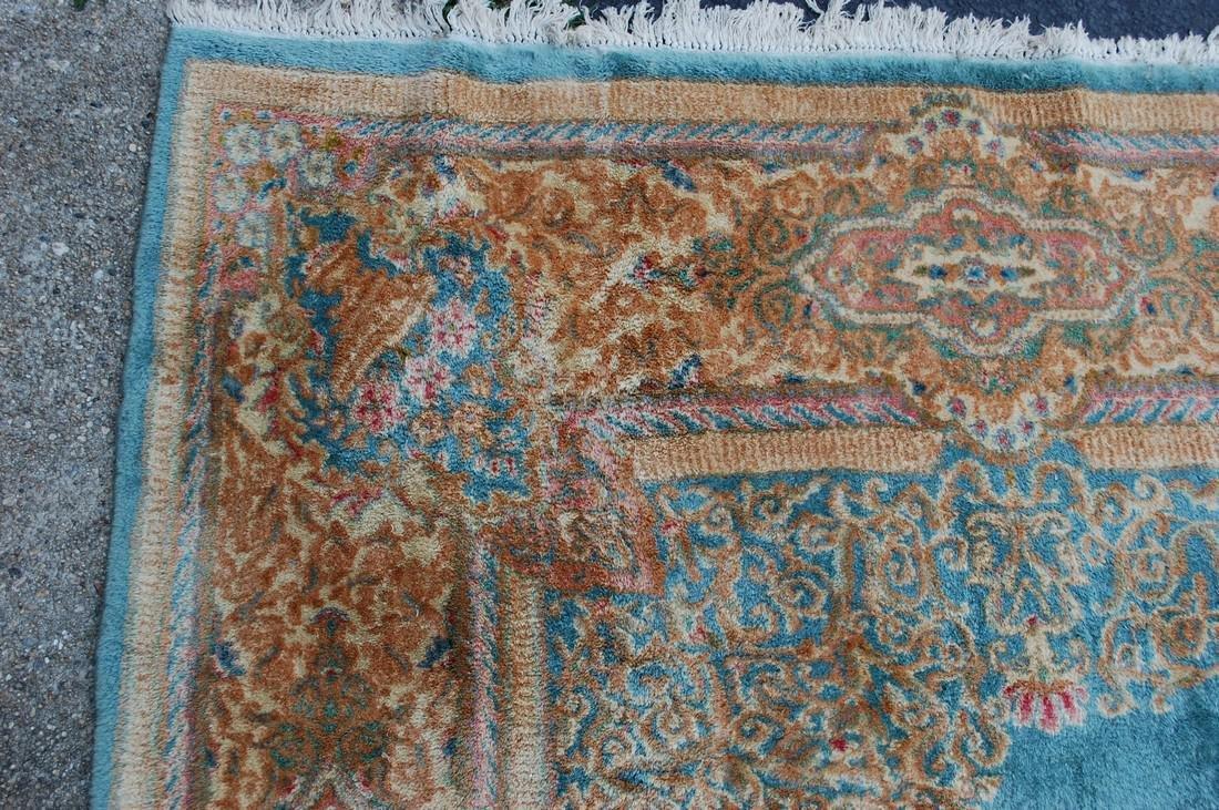 Antique Kork Wool Persian Lavar Kerman Rug 9.10x18 - 4