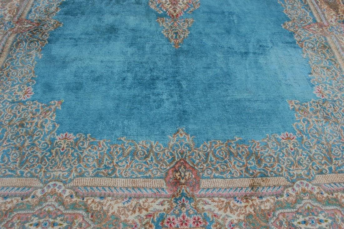 Antique Kork Wool Persian Lavar Kerman Rug 9.10x18 - 6