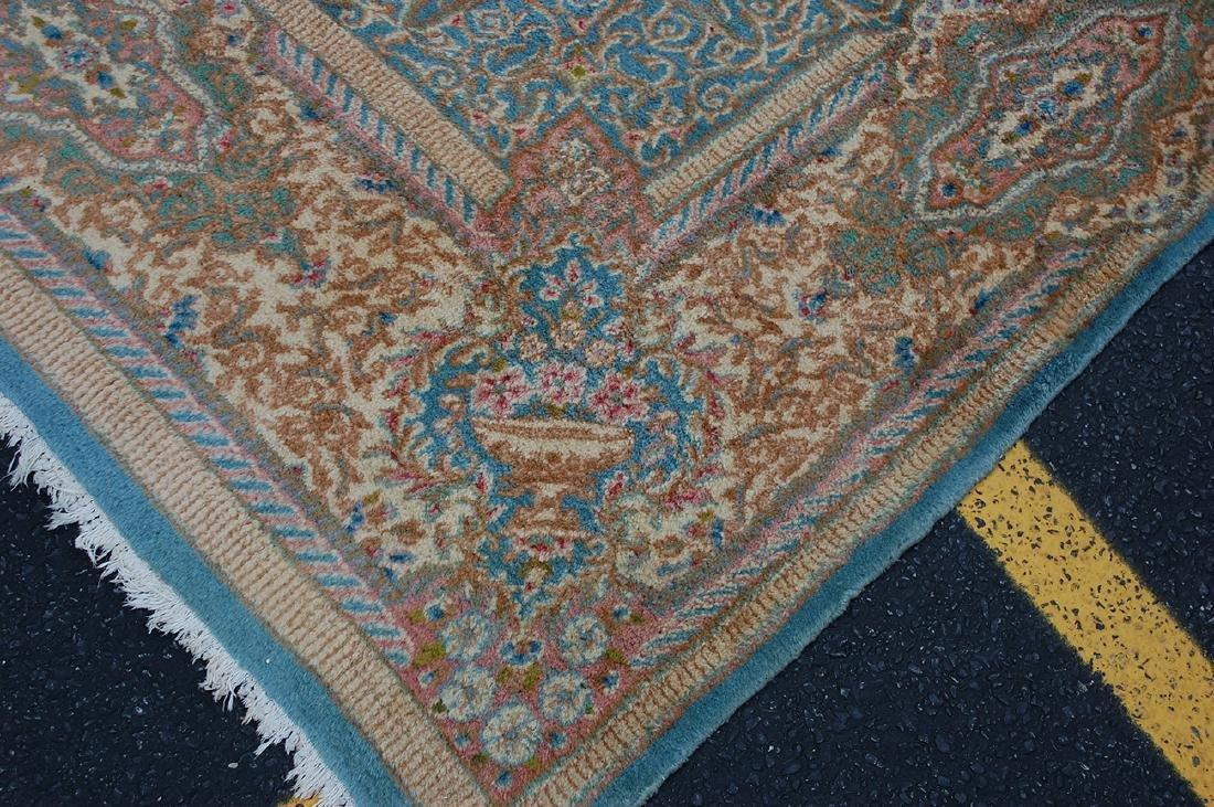 Antique Kork Wool Persian Lavar Kerman Rug 9.10x18 - 7
