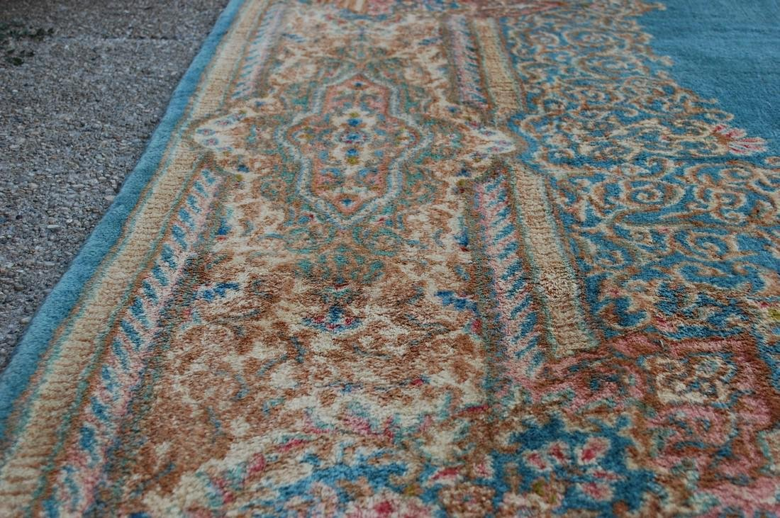 Antique Kork Wool Persian Lavar Kerman Rug 9.10x18 - 8