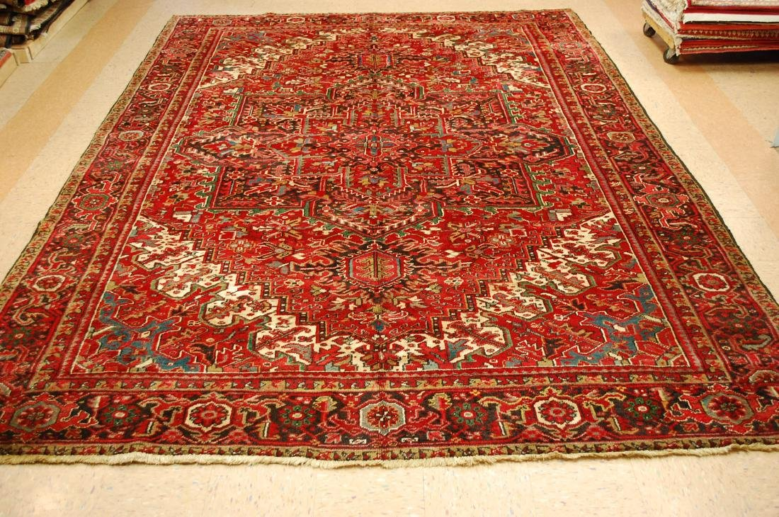 Persian Heriz Serapi Rug 11.8x13