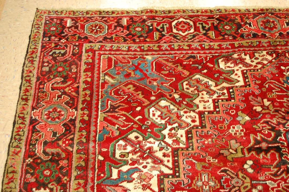 Persian Heriz Serapi Rug 11.8x13 - 4