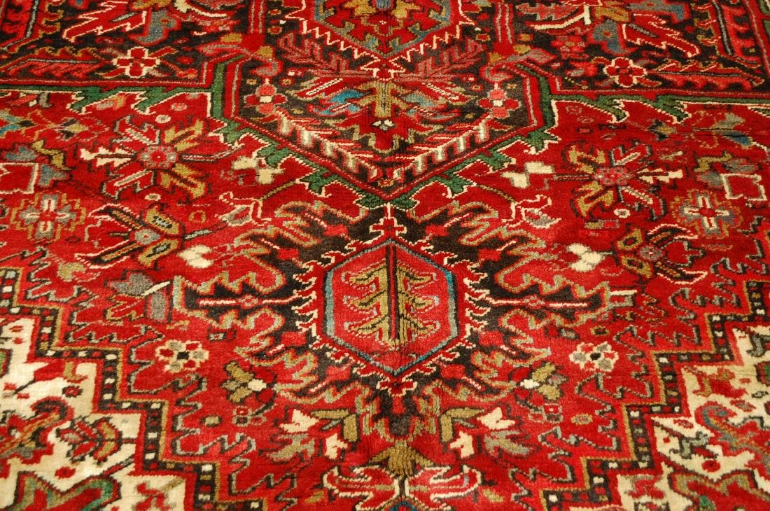 Persian Heriz Serapi Rug 11.8x13 - 7
